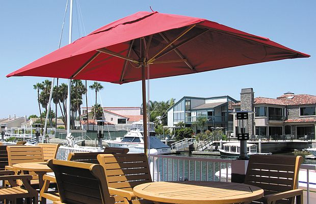 6 5ft X 10ft Rectangle Huntington Series Patio Umbrella