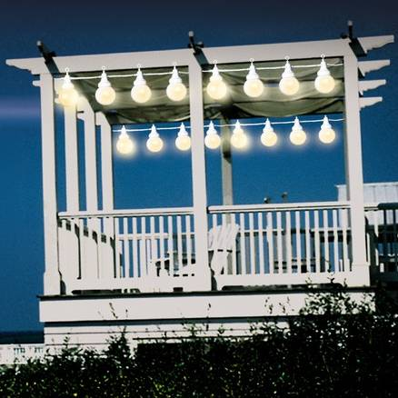 Outdoor String Lights for Gazebo, Pergola, Deck, or Patio