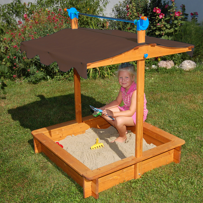 exaco felix sandbox with canopy felix