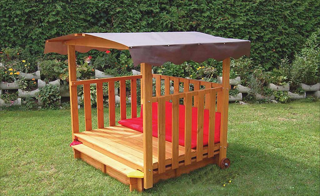 How to clean teak wood furniture furniture design ideas - Exaco Rolling Playhouse Covered Sandbox Playhouse