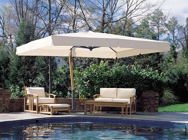 Giant Sidepost Umbrella 10x13ft Rectangle Canopy - FIM- & Outdoor Umbrella Rectangular | Olive Garden Interior