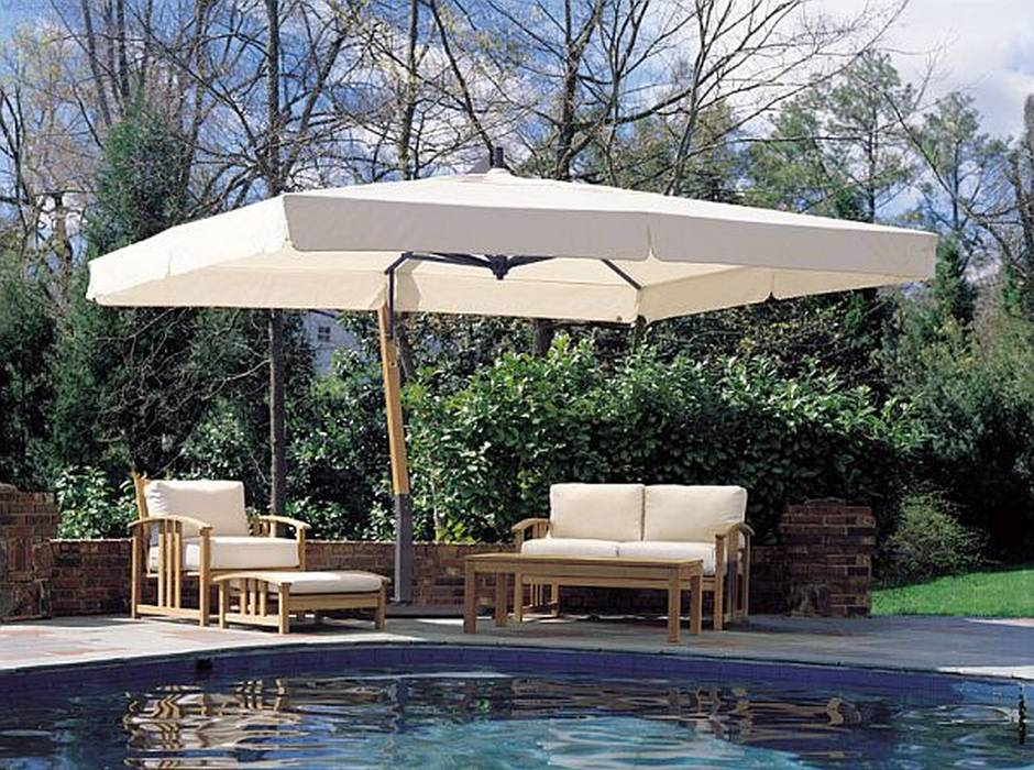 Giant Rectangle Sidepost Umbrella 10x13ft Offset Canopy P19