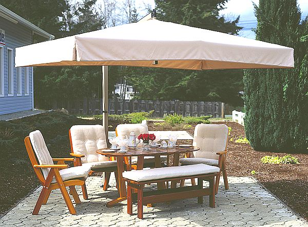 Offset Market & Patio Umbrella, R04, R-Series - Sidepost Umbrellas ...