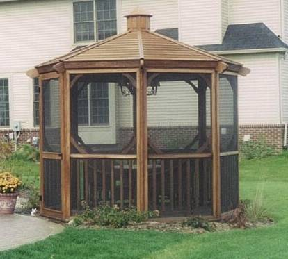 Hot tub spa gazebo enclosure surfside 11ft surfside1111 for Spa gazebo kits