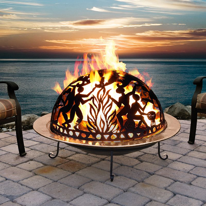 Full Moon Party Copper Fire Pit Set 777md