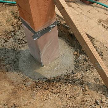 Install Sail Posts in Concrete