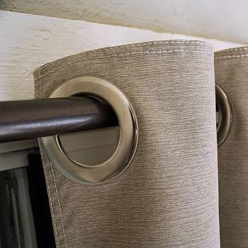 Exterior Grommet Top Curtain - Dark Linen