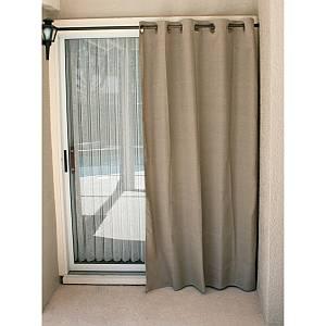 Dark Linen Curtain