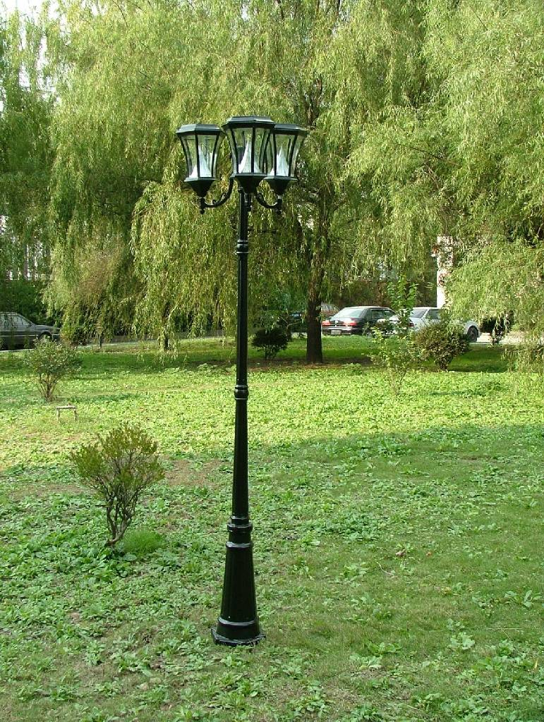 7 ft solar lamp post light gs 94 triple light post mozeypictures Choice Image