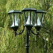 7 Ft Solar Lamp Post Light