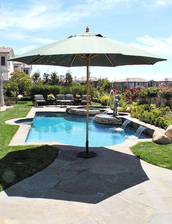 11 Ft Quad Pulley Wood Market Umbrella Made In The Shade