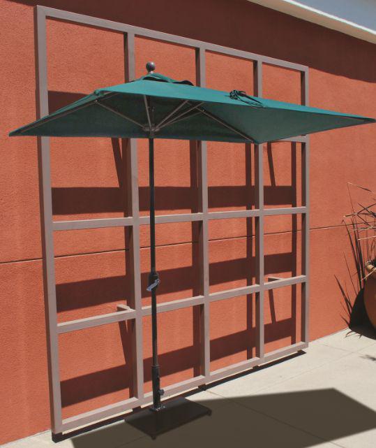 7 Foot Half Wall Aluminum Market Ubrella Gal 772ab
