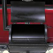 Grill on Trailer Hitch