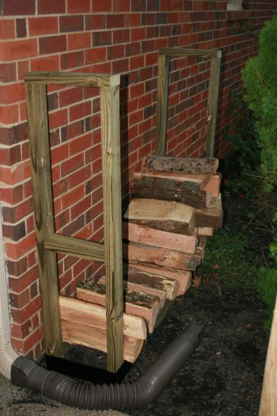 DIY Outdoor Firewood Storage Rack (Click To Enlarge)