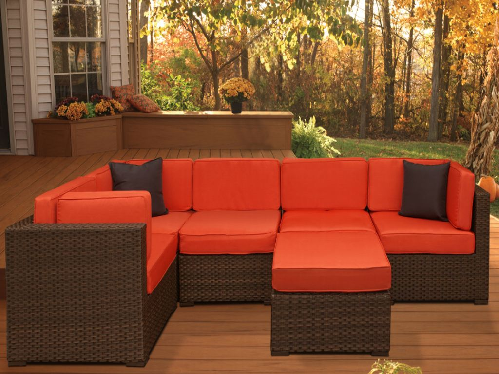 Orange : patio furniture sectionals - Sectionals, Sofas & Couches