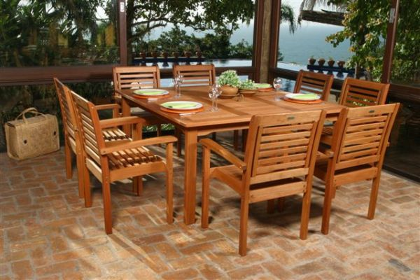 Livorno Patio Table And Stacking Chairs BT426421 8