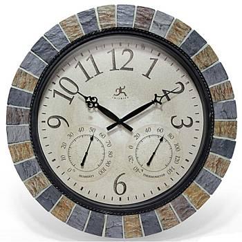 Slate Mosaic Indoor Outdoor Clock 12648
