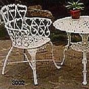 aluminum heart design patio furniture