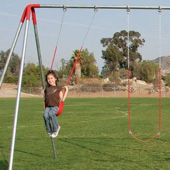 Steel Metal Swingset - 8ft High Beam