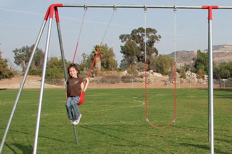 10 Ft Steel Metal Commercial Grade Swing Sets 4 Swing