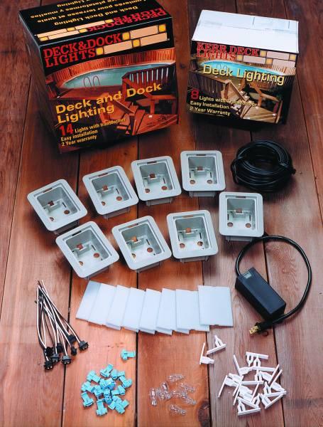 deck lights low voltage lighting kits by kerr lighting kdec. Black Bedroom Furniture Sets. Home Design Ideas