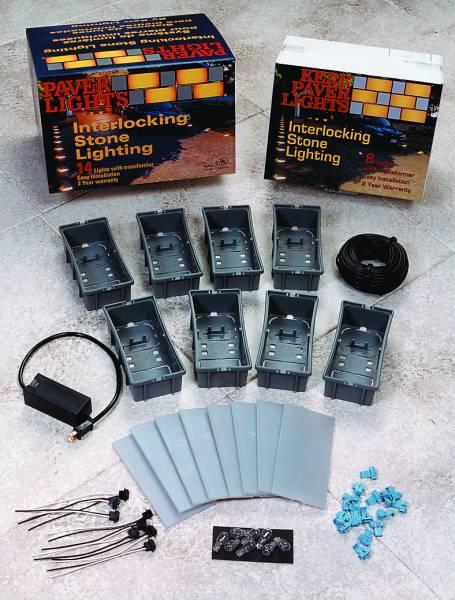 Paver Brick Lights Low Voltage Lighting Kits By Kerr