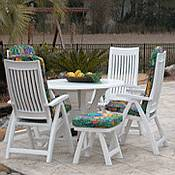 resin patio furniture sets home decor All Weather Wicker Dining Chairs Outdoor Wicker Dining Table
