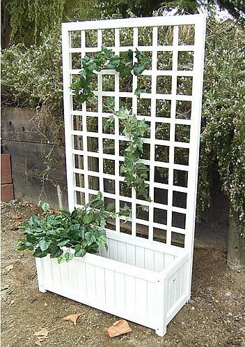 Garden Planter Box With Trellis Ds 7408
