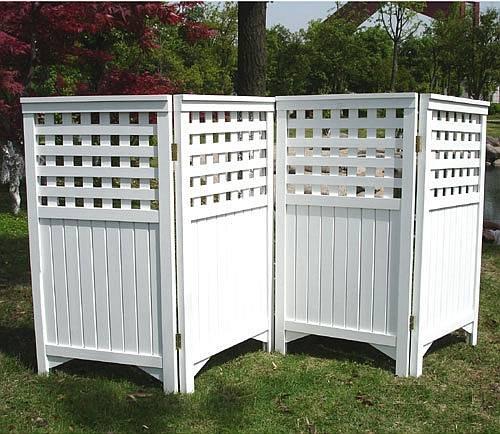 Garden trellis privacy screen ds 7410 for White outdoor privacy screen