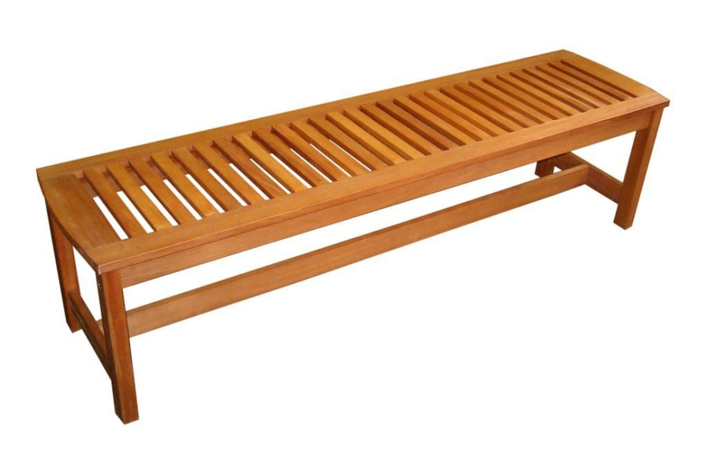 Eucalyptus serenity backless garden bench wood outdoor for Outdoor furniture benches