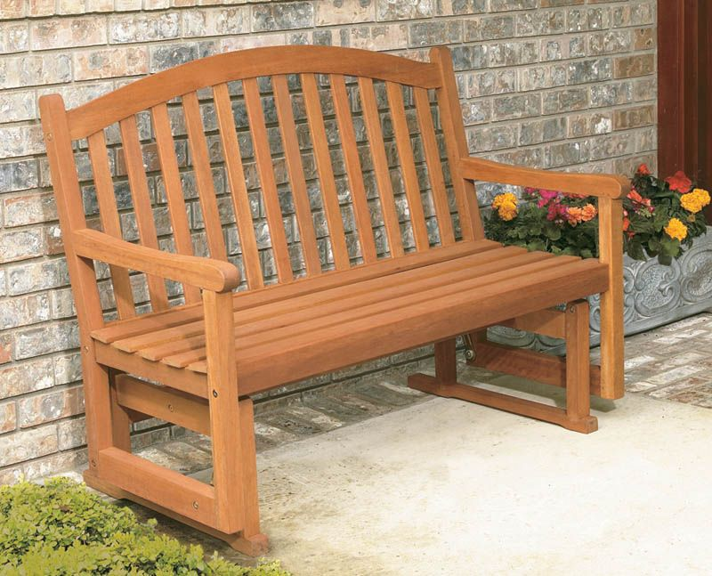 (Click to Enlarge) - Eucalyptus Daydream 4ft Glider Bench - Hardwood Outdoor Furniture