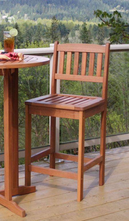 Eucalyptus terrace chair hardwood outdoor furniture for Eucalyptus patio furniture
