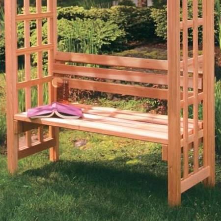 Pdf diy garden bench arbor plans download greenhouse for Diy garden arbor designs