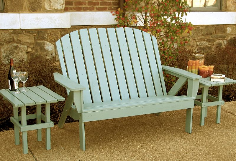Wooden Wood Adirondack Loveseat Plans Pdf Plans
