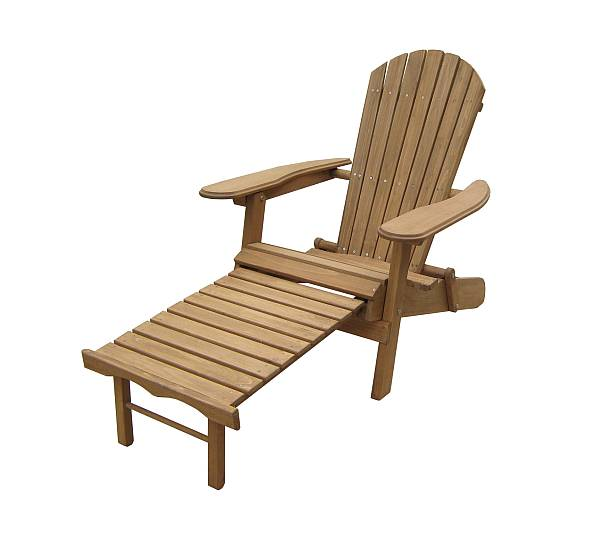 Foldable And Reclining Adirondack Chair With Pull Out Ottoman