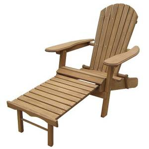 Foldable and Reclining Adirondack Chair