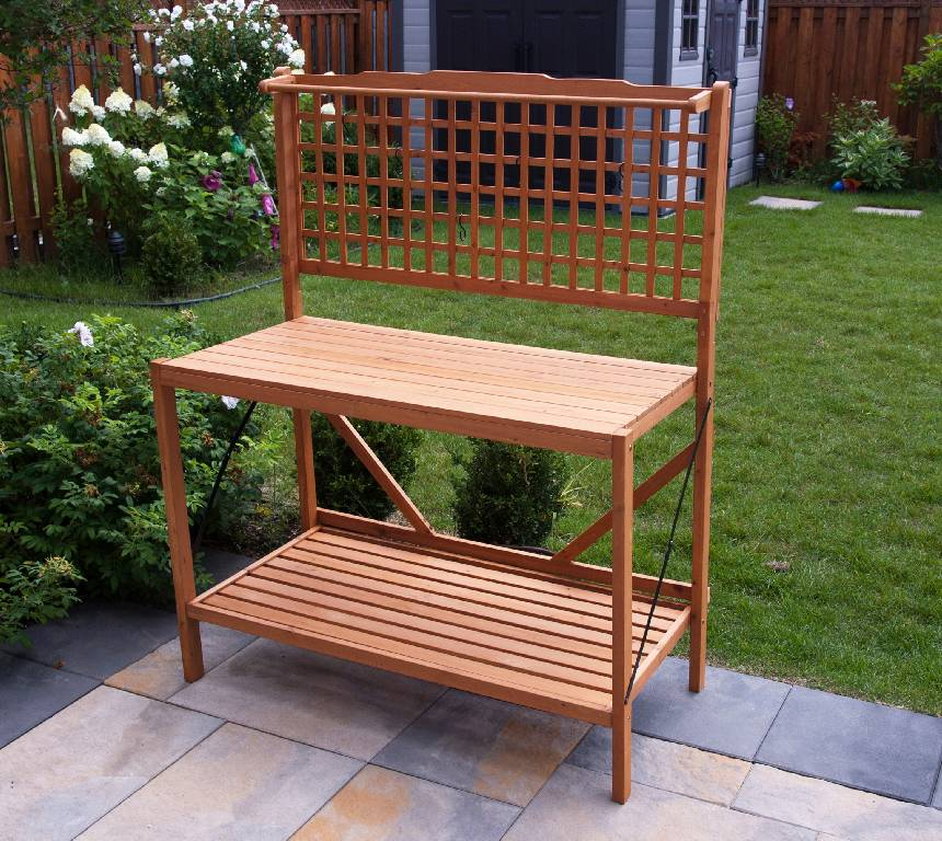 bench plans potting bench with sink potting bench diy potting bench ...