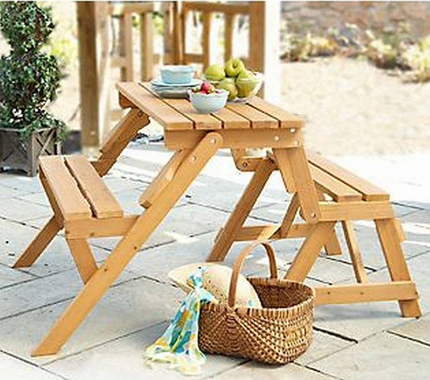 interchangeable picnic table and garden bench plans