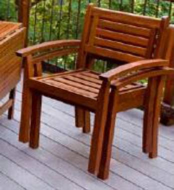 Eucalyptus Wood Patio Furniture - Outdoor Wooden Tables, Chairs
