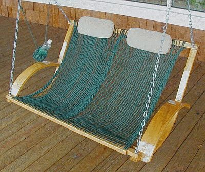 Furniture Discounters on Patio Furniture Rope Hammocks Porch Swing Double Bent Oak
