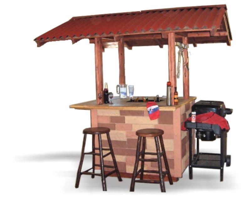 Tiki Style Bbq Grill Station Bbq Hut