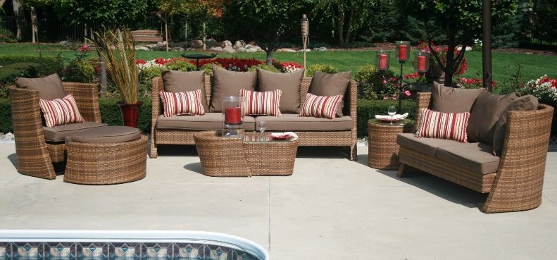 Nadri 6pc Resin Wicker Patio Furniture Set 1201