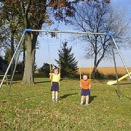 Metal Swingset 10ft 2 Swing 1 Bay