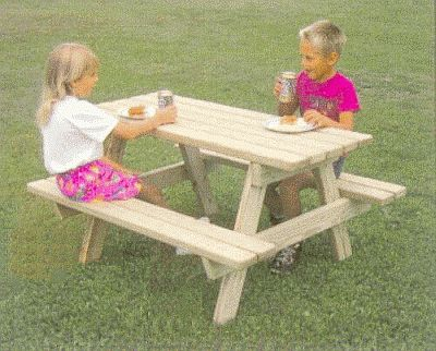 Small Wooden Picnic Table Plans