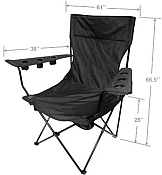 Measurements for Oversized Kingpin Chair