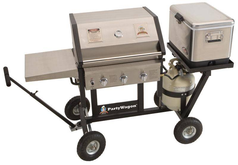 party wagon mvp 7512 all terrain grill package by party king mvp 7512