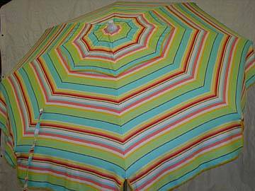 Patio Amp Beach Umbrella Green Amp Red Multi Stripe P862 71