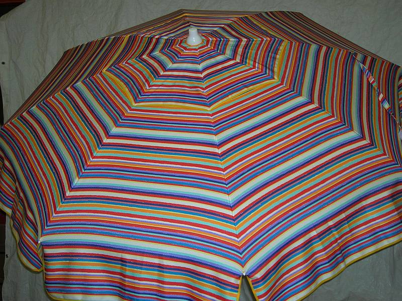 Patio Amp Beach Umbrella Blue Amp Red Multi Stripe P863 56