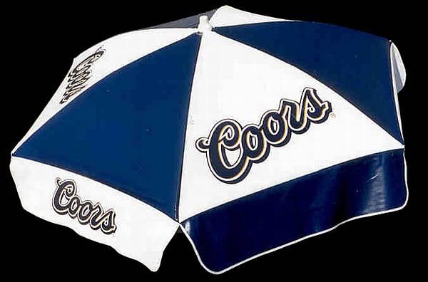 6ft Patio Beach Beer Umbrella Coors Click To Enlarge