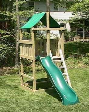 pathfinder swing set fort kit plans easy to build 3d plans
